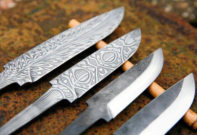 Mönstret är helt unikt i Magnus knivar.