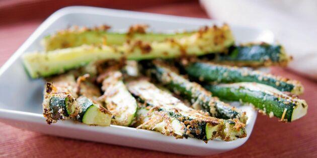 Zucchini frites – nyttigt tillbehör till middagen