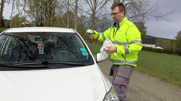 Cellulosasprayen har även visat sig ha bilvårdande egenskaper.