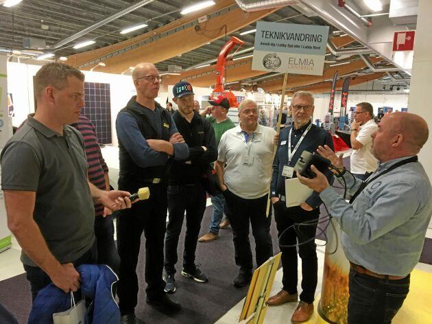 På teknikvandringen besökte gruppen bland andra företaget El av sol.