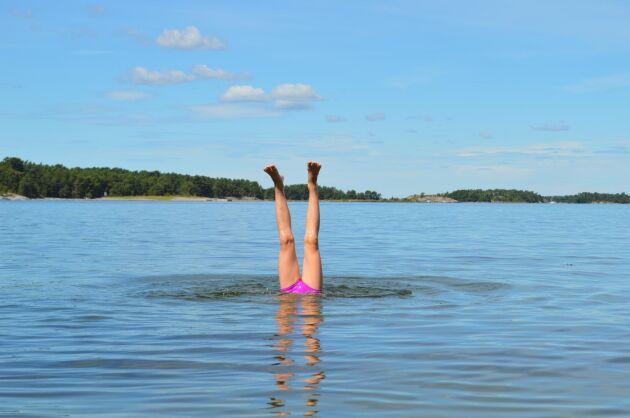 I augusti är vattnet som varmast, statistiskt sett. Foto: Istock