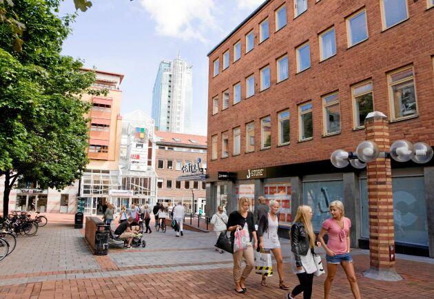 En bild från Västerås som är en av städerna som ligger i topp är Sveriges fulaste stad ska utses.
