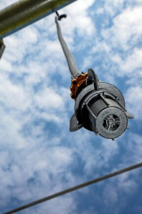 Ett VRI-system, möjliggör bevattning med varierad giva. Varje enskilt munstycke styrs av VRI-systemet.