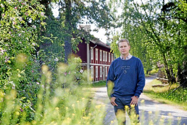 Gustav Fridolin (MP) vill främja en omställning av maskinparken mot andra drivmedel.