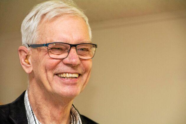 Göran Holmberg, ordförande för Dinglegymnasiet, är nöjd efter beskedet från Skolinspektionen.