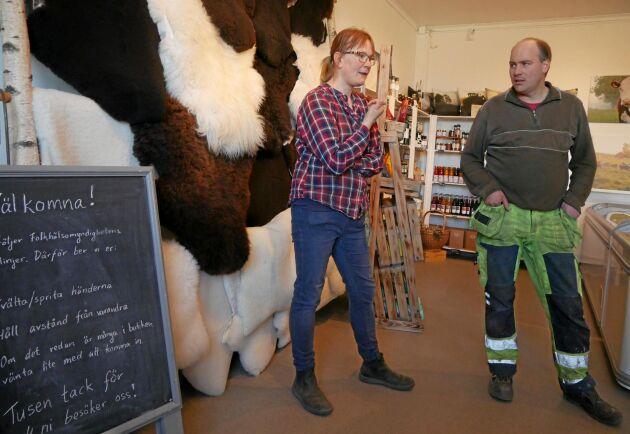 Gårdsbutiken började som en sidoinkomst, men blir allt viktigare i företaget.