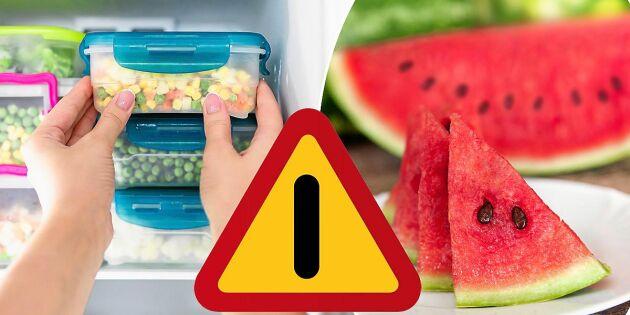 Därför ska du se upp med skuren melon och frysta grönsaker