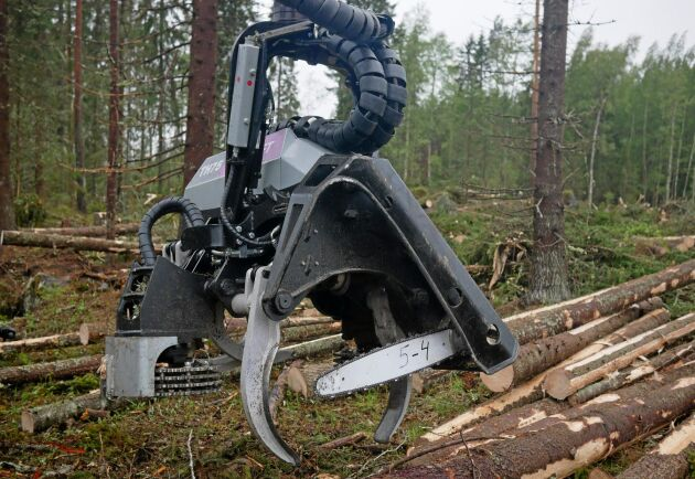Logset har även uppdaterat skördaraggregatet TH 75 bland annat med bättre skydd för hydrauliken.