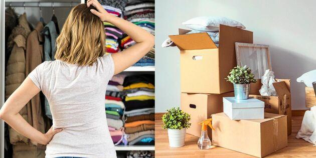 Rensa ut hemma – så får du ordning på röran
