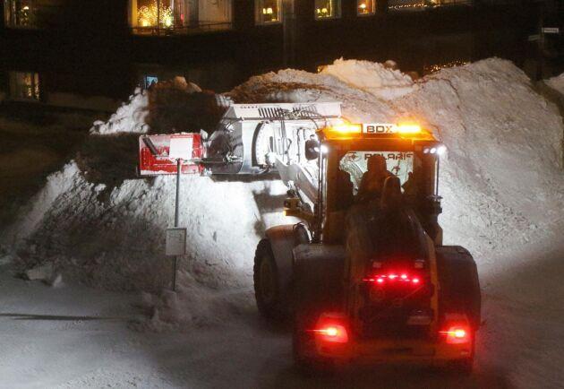 Totalt har Gävle spenderat tio miljoner av sin snöröjningsbudget i år.