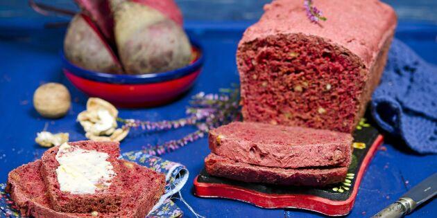 Saftigt rödbetsbröd till frukosten – glutenfritt!