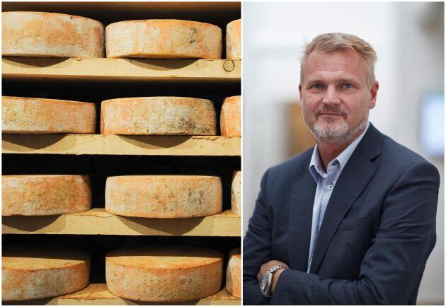 """Arlas VD Patrik Hansson är inte förvånad över siffrorna: """"Europeisk lågprisost som Gouda och Edamer smakar ganska lika de ostar som svenskar är vana vid""""."""