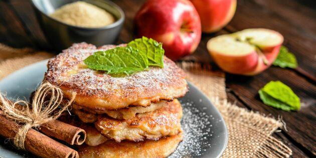 Frasiga äppelplättar med kanel och socker – makalöst goda