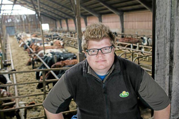 Mats Ekström är mjölkproducent i Lojsta på Gotland.