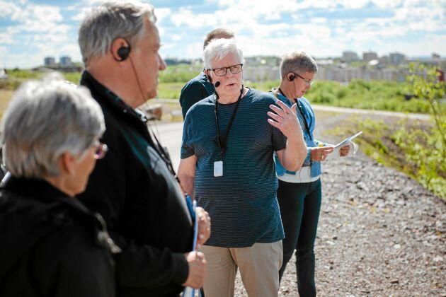 Sedan januari i år driver Dan Lundström företaget Kiruna Storytelling, där han gör guidade turer av Kiruna med fokus på stadsomvandlingen.