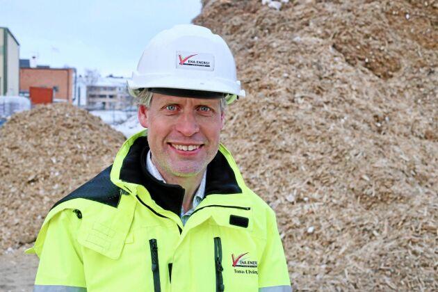 Tomas Ulväng, vd Ena Energi, köper hellre billig RT-flis än salixflis.