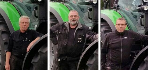 Lennart Larsson, Tomas Johansson och Jonas Techel på Bil och Traktor på Gotland.