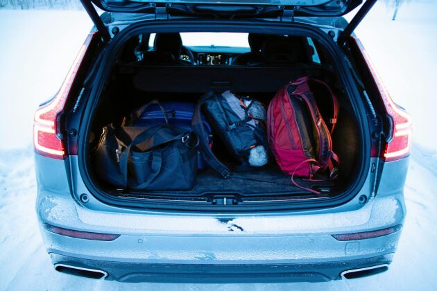 I bagaget ryms det många prylar.