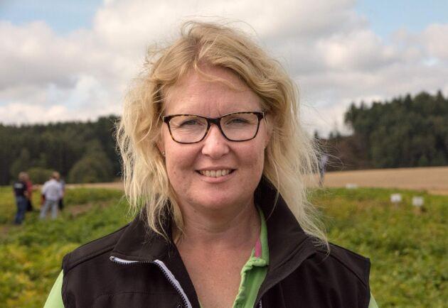 Lisa Andrae är rådgivare på Nordfalan och har varit med och gjort skördeinventeringen för Potatisodlarnas räkning.
