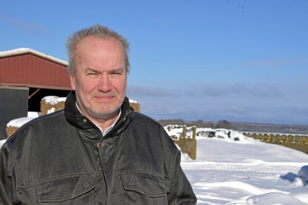 Inge Johansson är mjölkbonde på gården Järnåsen i Tidaholms kommun.