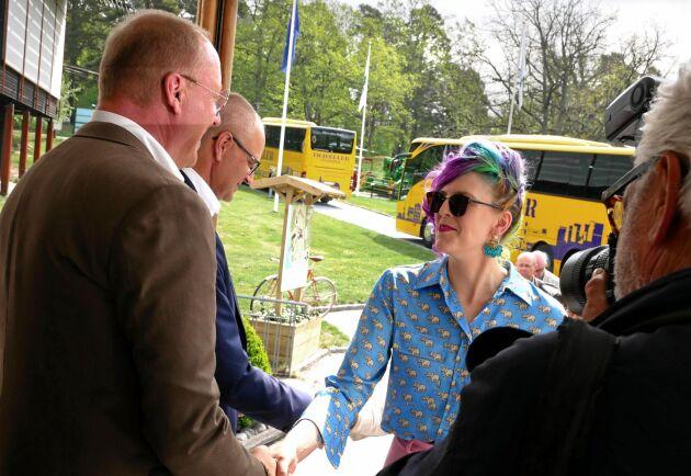 """Emilia Astrenius Widerström , LRF Ungdomen, förde fram att det krävs samarbete: """"Ansvaret ligger inte på individnivå""""."""