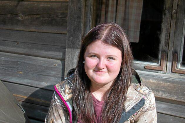 Michelle Kilhage, Forshaga. - Jag är intresserad av jakt och har varit med i skogen sedan jag var liten. Den betyder gemenskap och att man hjälper till i naturen.