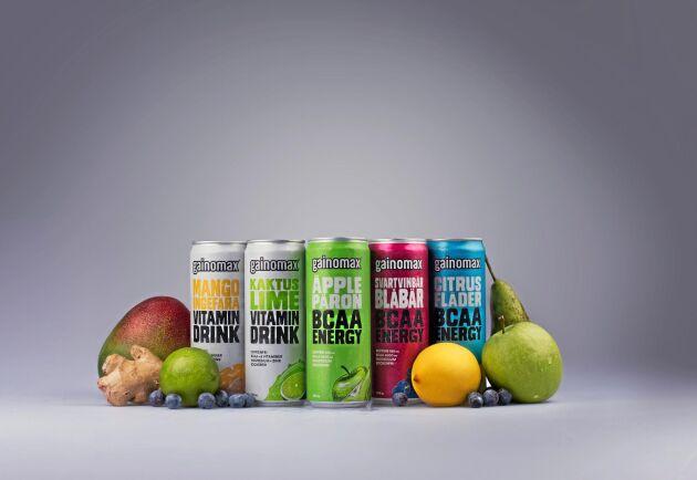 De nya vattenbaserade dryckerna finns i fem smaker.