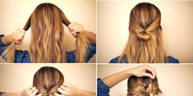 Knyt en rosett av håret
