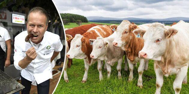 Stjärnkock startar upprop för svenskt kött