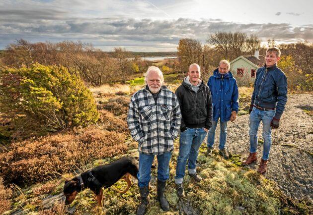 Stellan Björk, Tommy Jansson, Jan Jansson, Christian Jansson är med i processen för att få det utvidgade strandskyddet i Sverige prövat av Europadomstolen.