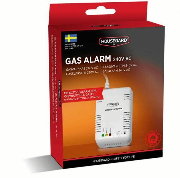 Gasvarnare är en viktig säkerhetsprodukt. Denna från Housegard kostar 224 kronor i IF försäkringars webbshop.