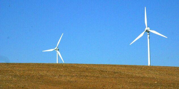 Bara vart fjärde vindkraftverk får byggas