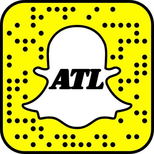 På bilden syns vår Snapkod. Om du öppnar appen och riktar kameran mot bilden så hittar appen ATL:s profil.