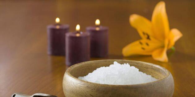 Bli fin från topp till tå med salt – 8 sköna huskurer