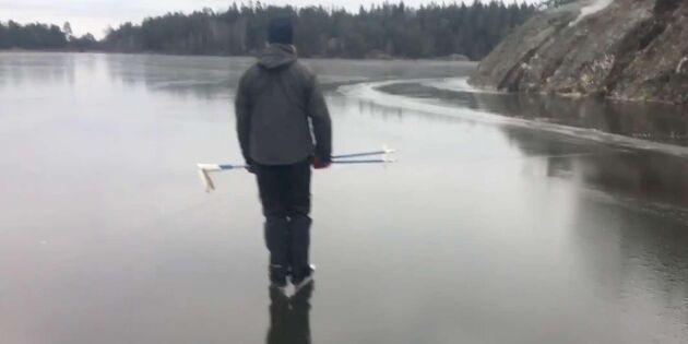 Kolla in skridskoåkning på sjön –kan det bli fridsammare?