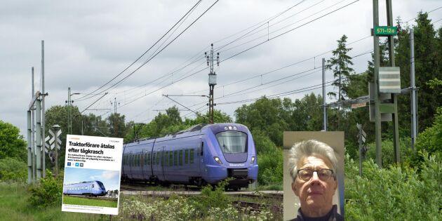 Efter kraschen - Lantmätare kritiserar tågövergången