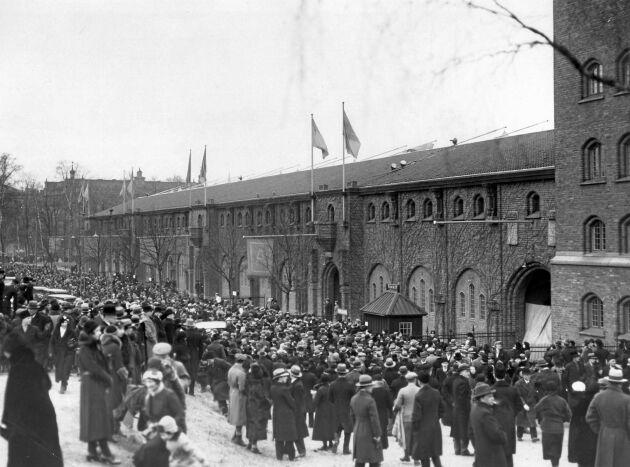Stockholms nybyggda stadium under OS 1912.