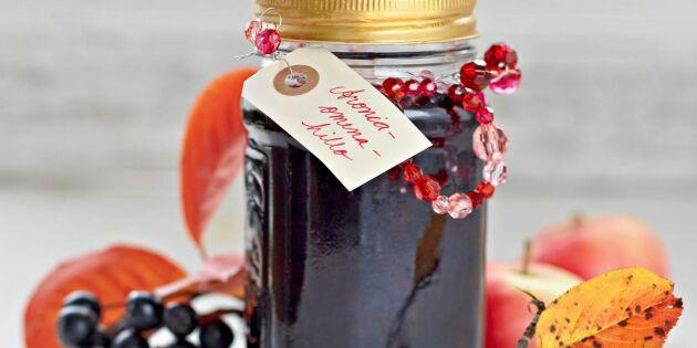 Aronia- och äppelsylt – enkelt recept som passar till mycket