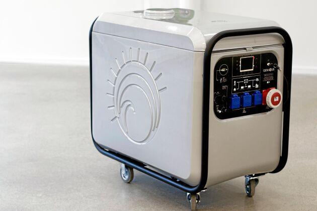 Produkten finns även som portabelt kraftverk för villor och småhus. Den här produkten är utrustad med en förbränningskammare och kan enkelt kopplas in till ett pelletmatningssystem.