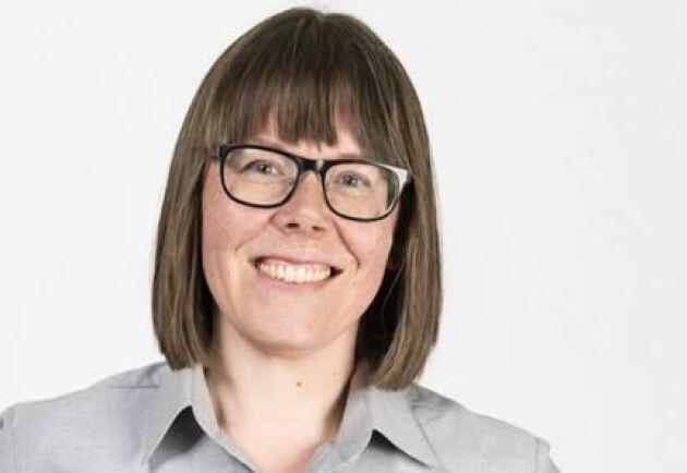 Annelie Persson, informationschef på Komatsu Sverige, ser en nytta med mässorna.