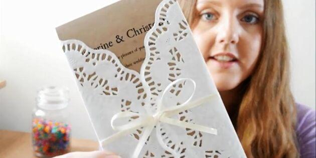 Bjud in till bröllop i romantisk stil