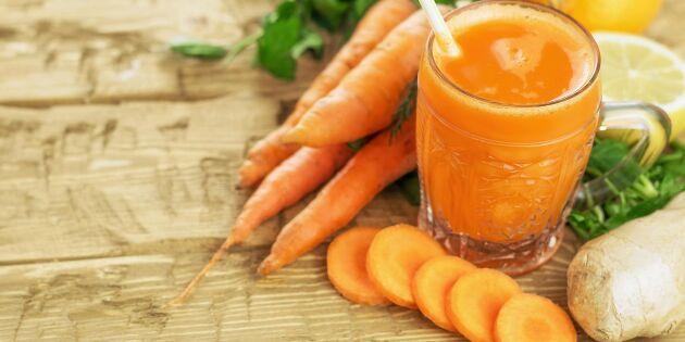 Vitaminstark morgon: Morotsshot med ingefära och citron