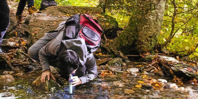 Vilket vatten vågar jag dricka på vandringen?