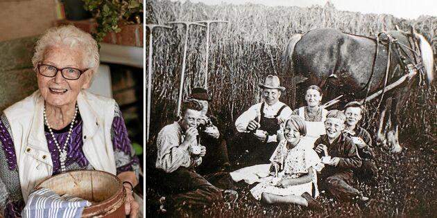 Ett svunnet Sverige: Magda, 91, minns somrarna på familjens fäbod!