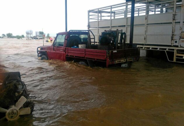 Vattennivån på Channel Downs Station gick från runt tre till fem meter högt på sina ställen.