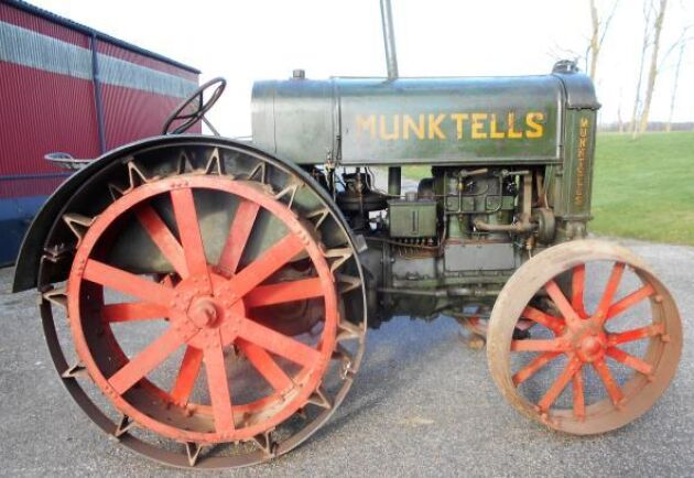 Dyrast på auktionen blev denna Munktells 22 från 1929 som gick för 290000 kronor. Traktorsamlaren Carl-Eric Ringblom den var andra ägaren till traktorn som beskrivs vara i körbart originalskick.