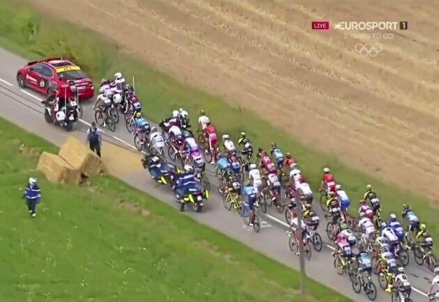 Skärmdump från Eurosports sänding av Tour de France.