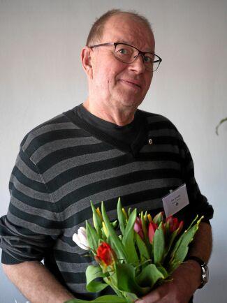 Per Dahlin, Alnö-Skön, fick en silvernål för ett mångårigt engagemang i Norrskog och ordförande i Norrskogs SBO Medelpads östra.
