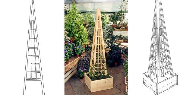 Så bygger du ett klättertorn för växter till din trädgård