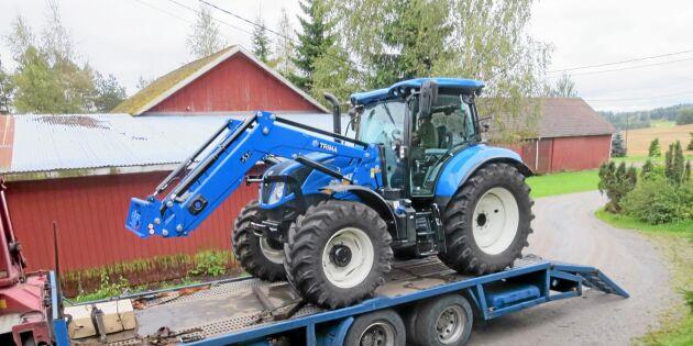 Sätt traktorn på lastbil